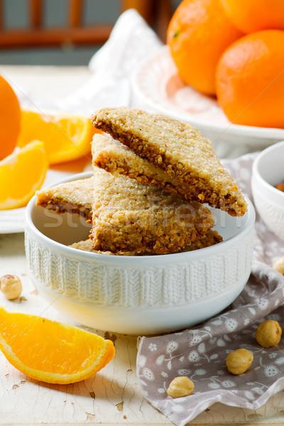 hazelnut orange shortbread.style rustic Stock photo © zoryanchik