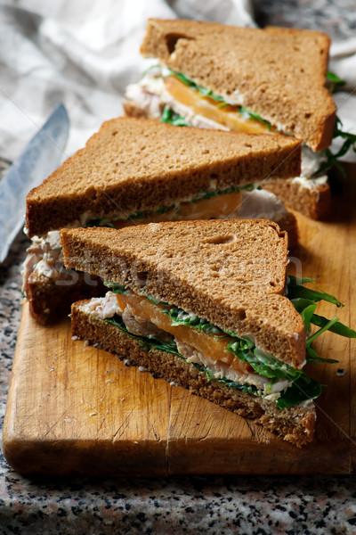 Jardín sándwich limón mayonesa hoja pan Foto stock © zoryanchik