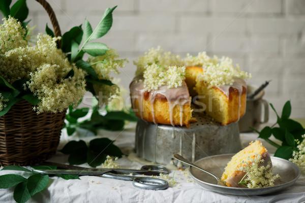 Stock photo: Elderflower and Orange Bundt Cake.