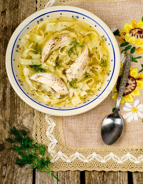 Куриный суп лапша с фото пошагово