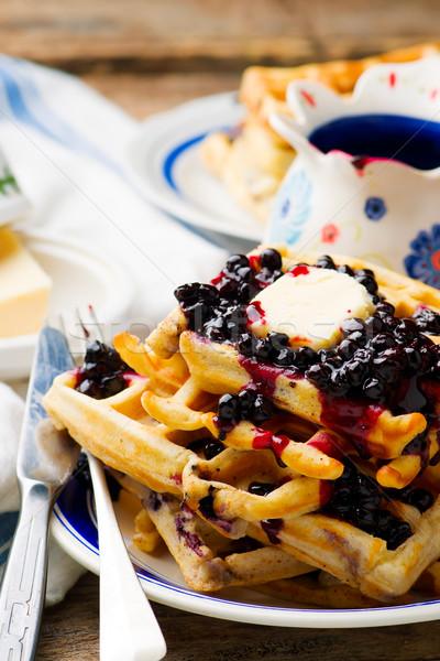 Grego iogurte fruto fundo café da manhã Foto stock © zoryanchik