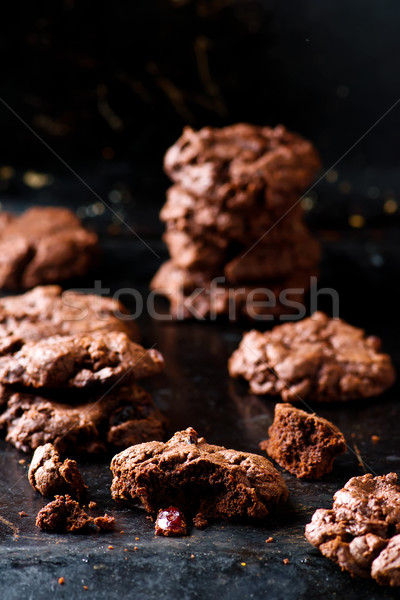 chocolate chip skillet cookie Stock photo © zoryanchik