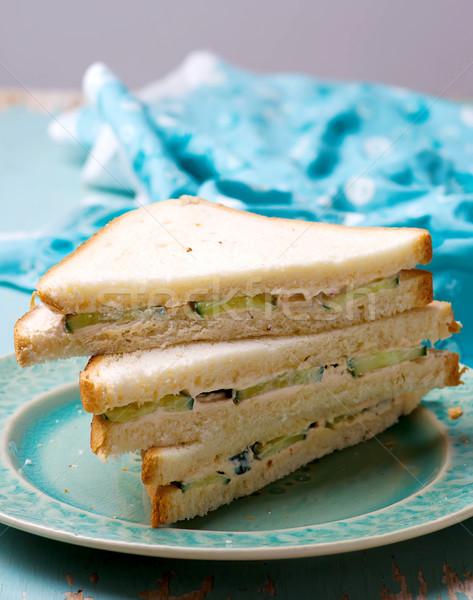 cucumber cream cheese sandwiches Stock photo © zoryanchik