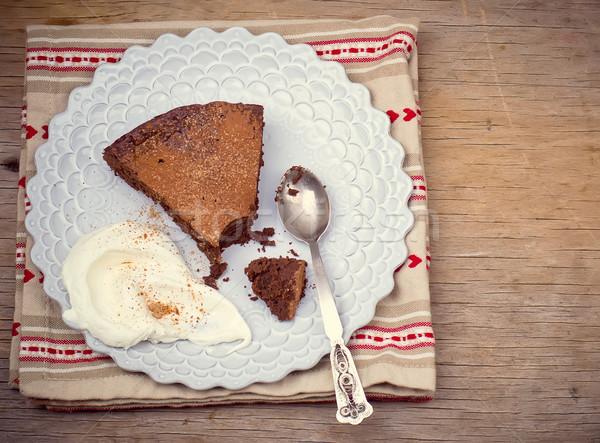 chocolate truffle pie.  Stock photo © zoryanchik