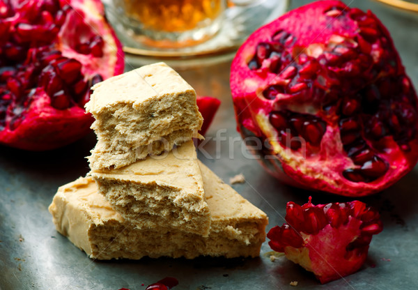 Halvah, Traditional east sweet. selective focus Stock photo © zoryanchik