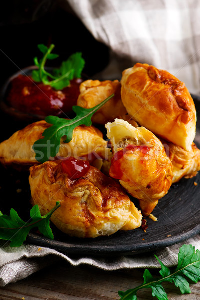 Terreno carne rústico comida fundo prato Foto stock © zoryanchik