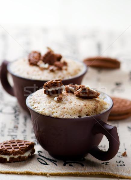 Mug gâteau préparé micro-ondes horizontal autorisation Photo stock © zoryanchik