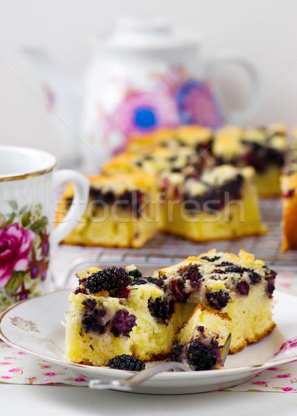 pie with a mulberry.  Stock photo © zoryanchik