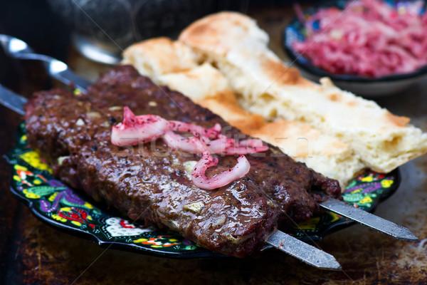 the Turkish kebab from lamb.  Stock photo © zoryanchik