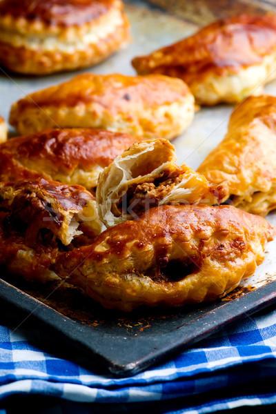 cheesy ground beef empanadas..style rustic Stock photo © zoryanchik
