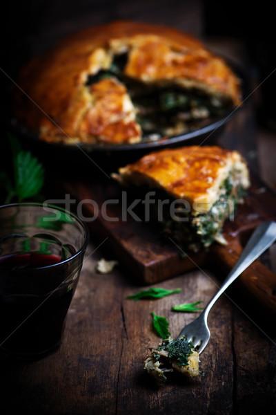 鶏 素朴な 春 食品 パーティ 背景 ストックフォト © zoryanchik