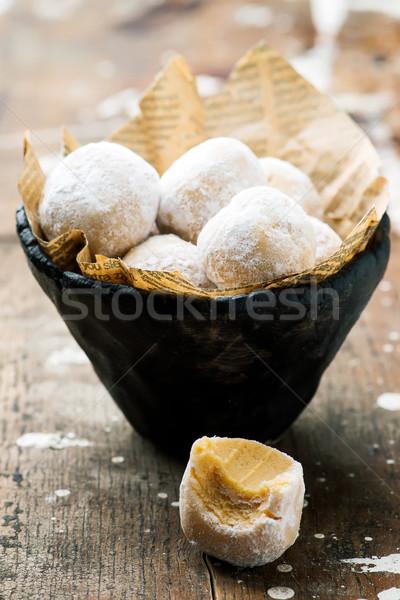 Quick and  Easy No Bake Peanut Butter Snowballs  Stock photo © zoryanchik