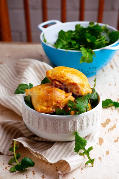 Batata rústico tortas estilo foco comida Foto stock © zoryanchik