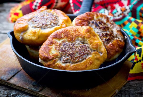 Maya et doldurma stil rustik gıda Stok fotoğraf © zoryanchik