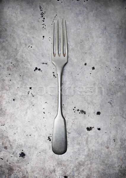 ヴィンテージ 食器 金属 古い スタイル 選択フォーカス ストックフォト © zoryanchik