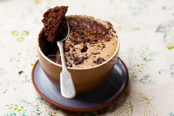 Caneca bolo preparado microonda horizontal permissão Foto stock © zoryanchik