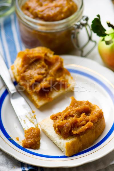 リンゴ バター パン スライス スタイル ストックフォト © zoryanchik
