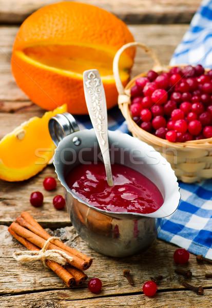 Traditionellen Englisch Sauce Stil rustikal Stock foto © zoryanchik