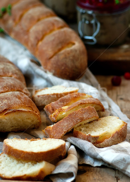 homemade honey baguette.style rustic. Stock photo © zoryanchik