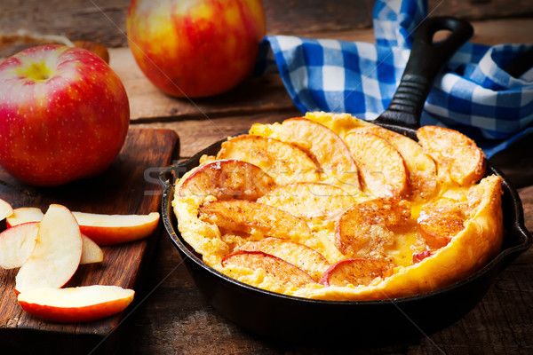 Canela manzana holandés bebé crepe hierro Foto stock © zoryanchik