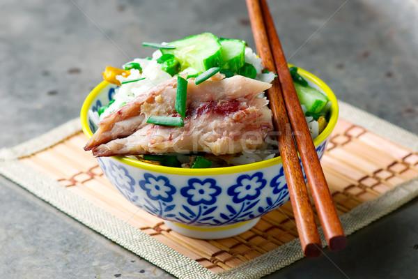 Indonésio frito arroz cavala jantar prato Foto stock © zoryanchik