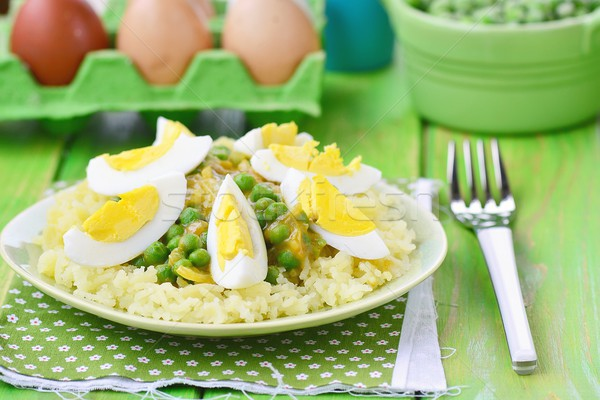 vegetables curry with eggs Stock photo © zoryanchik