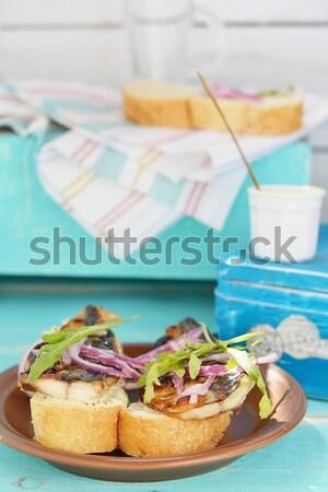 Ternera lengua aperitivo hoja cena Foto stock © zoryanchik