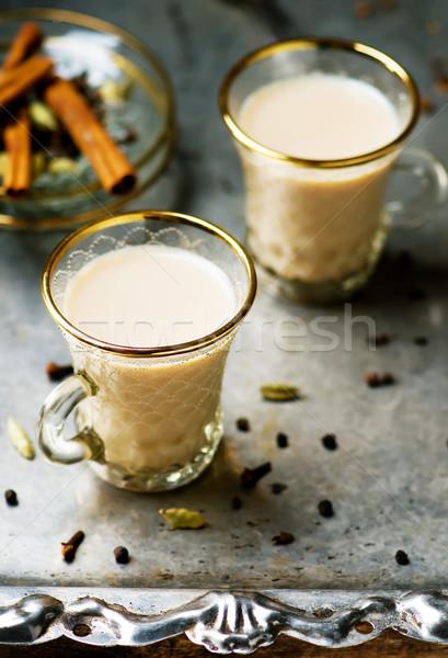 Indian masala tea  Stock photo © zoryanchik