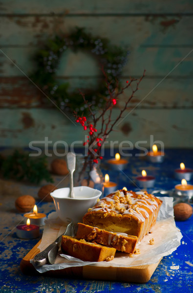 PUMPKIN SWIRL BREAD Stock photo © zoryanchik
