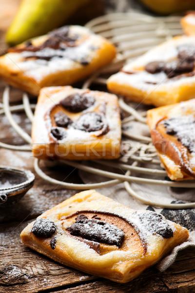 Pear Chocolate Cream Cheese Danishes. Stock photo © zoryanchik