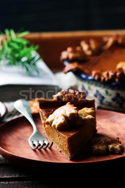 тыква деревенский избирательный подход продовольствие десерта осень Сток-фото © zoryanchik