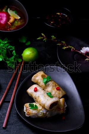 fried spring rolls. Stock photo © zoryanchik