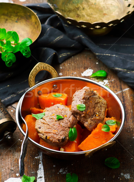 Pork Tenderloin and Sweet Potatoes. Stock photo © zoryanchik