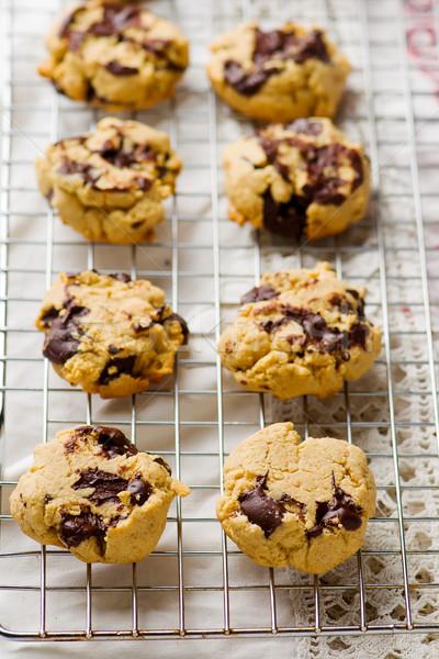 oatmeal cookies with chocolate Stock photo © zoryanchik