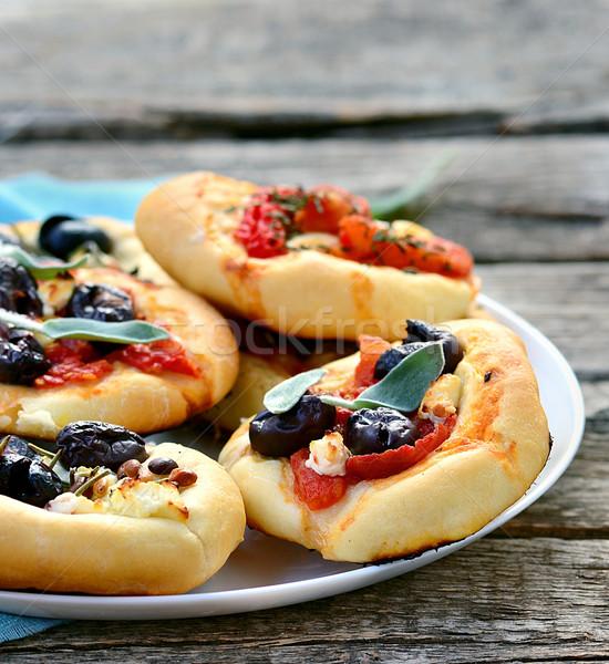 мини итальянская кухня избирательный подход пиццы ресторан Сток-фото © zoryanchik