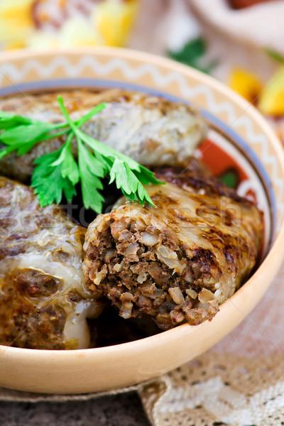 печень блюдо традиционный кухня стиль деревенский Сток-фото © zoryanchik