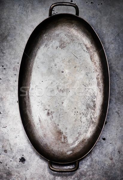 Stockfoto: Vintage · tafelgerei · metaal · oude · stijl · selectieve · aandacht