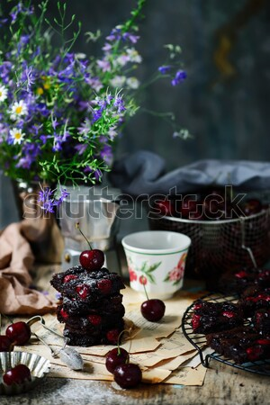 cup of  briar tea on a Christmas rustic  background. Stock photo © zoryanchik