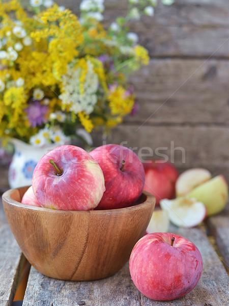 Appels houten appel sap dessert zoete Stockfoto © zoryanchik
