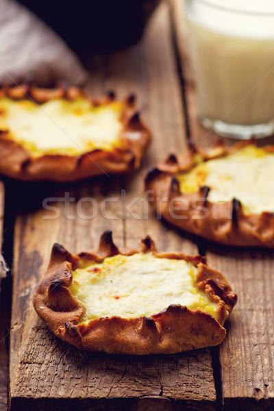Stockfoto: Traditioneel · russisch · aardappel · taart · rogge · stijl