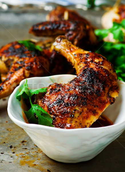 thai grilled chicken with sweet chili sauce Stock photo © zoryanchik