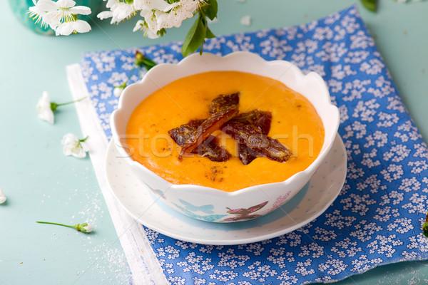 semolina porridge with pumpkin and dates Stock photo © zoryanchik