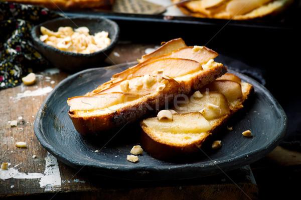 pears  crostini.selective focus Stock photo © zoryanchik