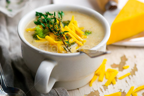 брокколи чеддер куриные суп Сток-фото © zoryanchik