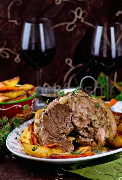 the baked pork gammon  Stock photo © zoryanchik