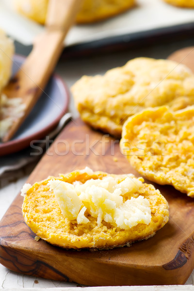 Stock photo: honey pumpkin biscuits with honey butter