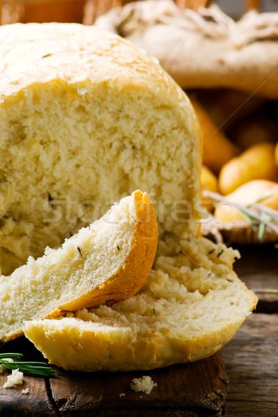 Potato and rosemary bread .style rustic Stock photo © zoryanchik