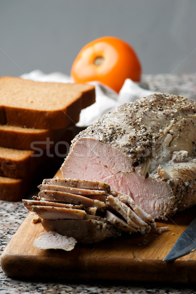 Turkey roasted breast .style rustic. Stock photo © zoryanchik