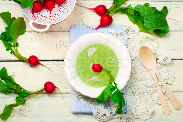 a garden radish cream soup on  Stock photo © zoryanchik