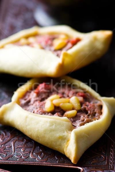 traditional Lebanese meat pies Stock photo © zoryanchik
